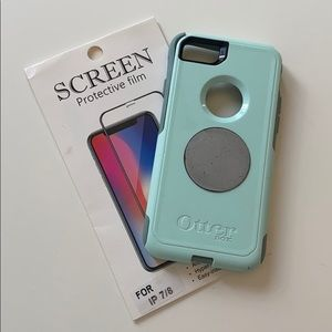 iPhone 7/8 Otter Box Case with Screen Protecter
